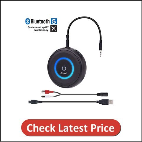 Give Bluetooth V5.0 transmitter and receiver for TV
