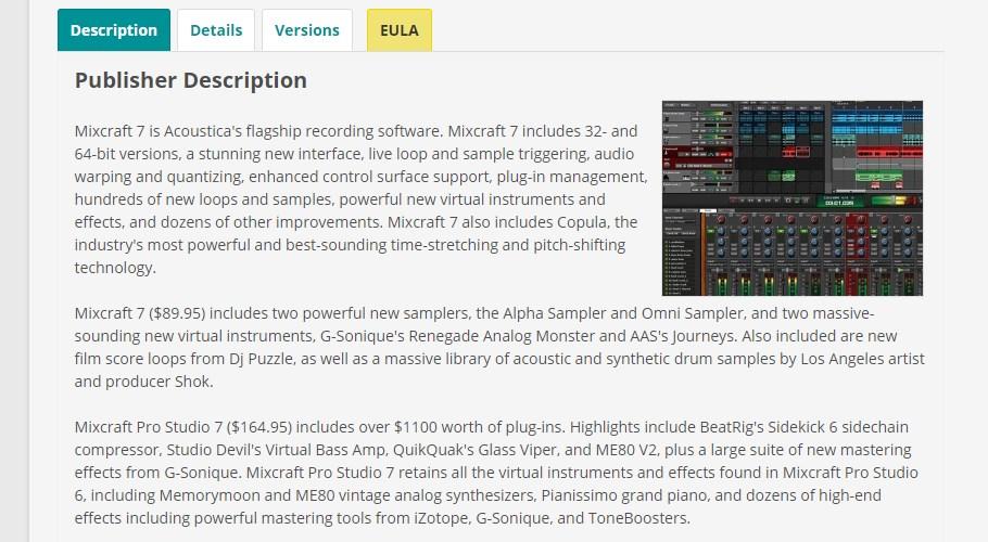 Mixcraft 7 Recording Software