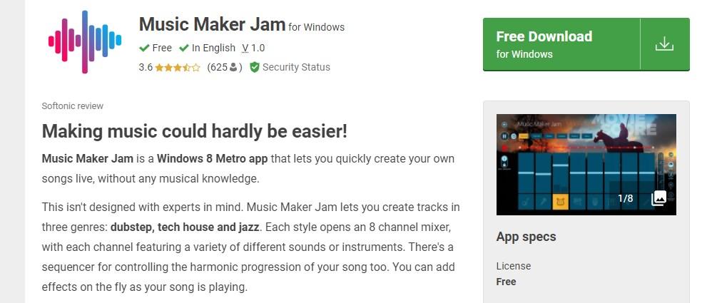 Music Maker Jam Music software