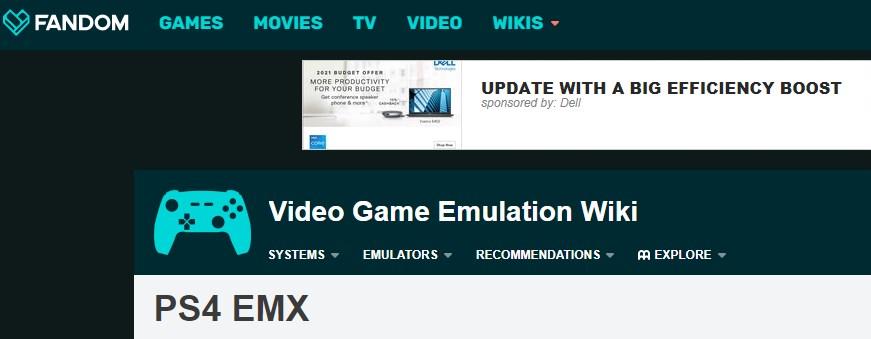 PS4EMX PS4 Emulator