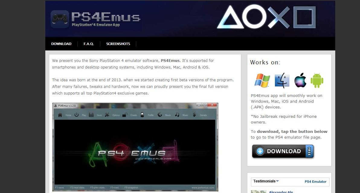 PS4Emus PS4 Emulator