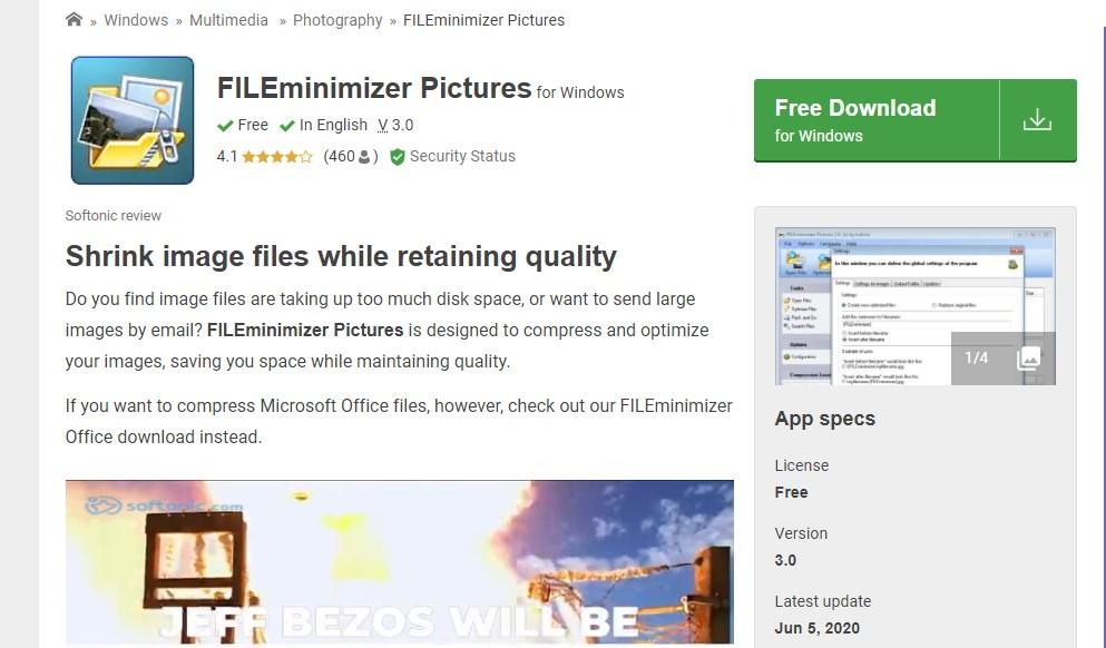 FILEminimizer Pictures Image Resizer