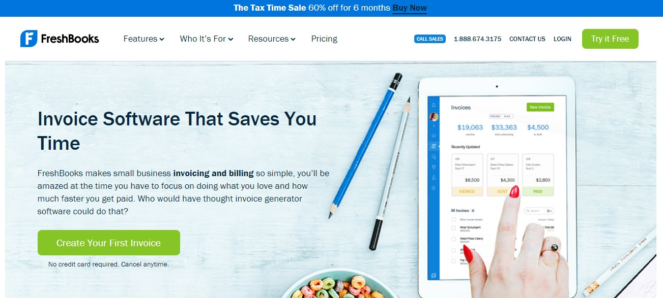 FreshBook Invoicing Software