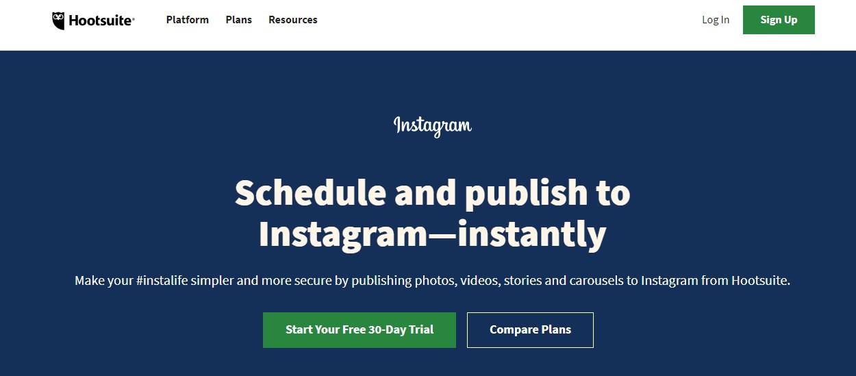 Hootsuite Instagram Scheduling