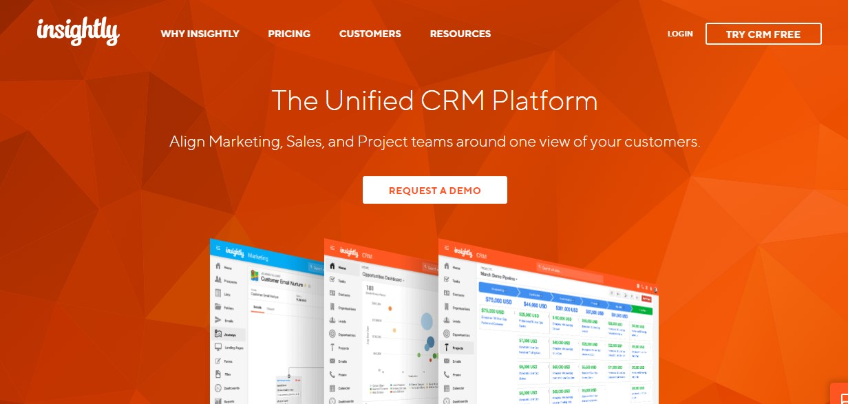 Insightly Client Management Software