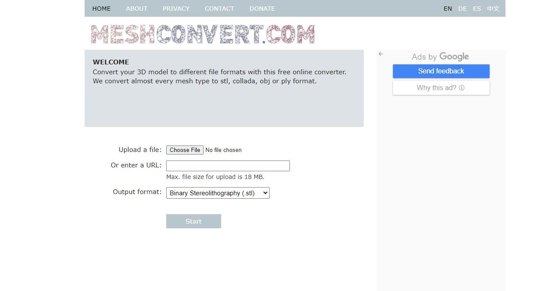 MeshConvert 3D Model Converter