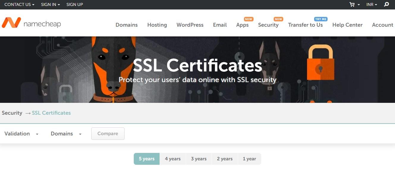 Namecheap SSL Certificate Provider