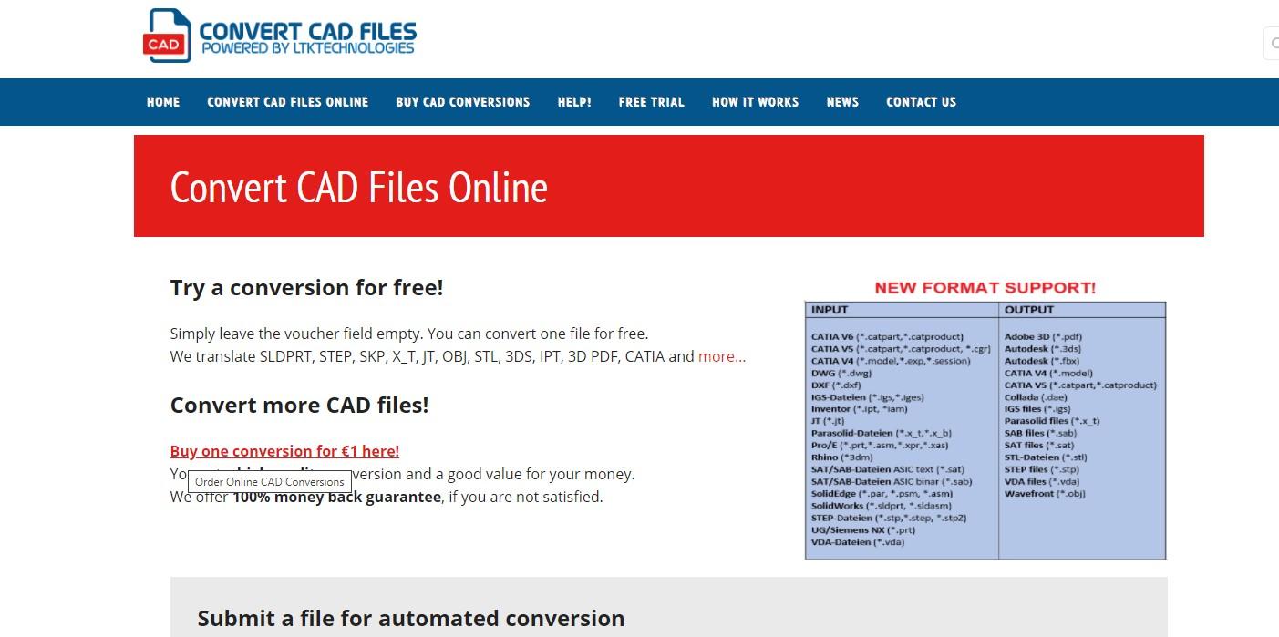 Online CAD Converter