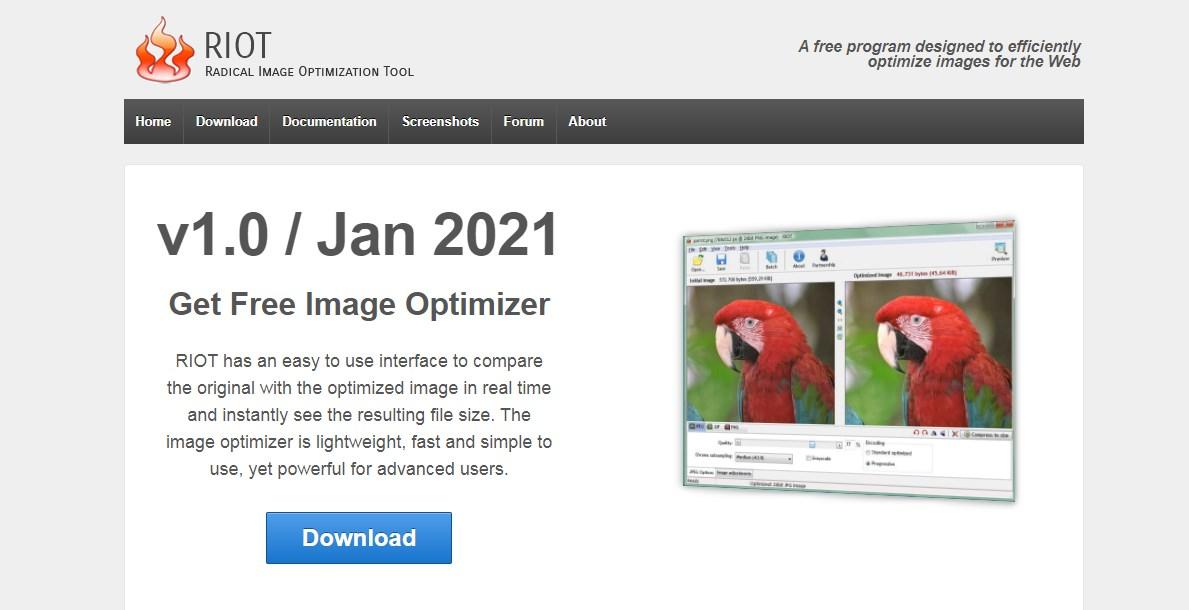 RIOT- Radical Image Optimization Tool