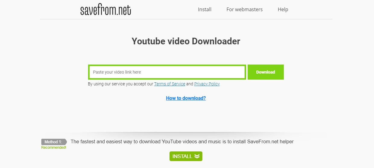Savefrom YouTube to Mp3 Converter Online