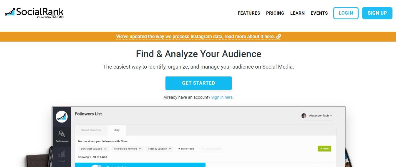SocialRank Instagram Analyze Tool
