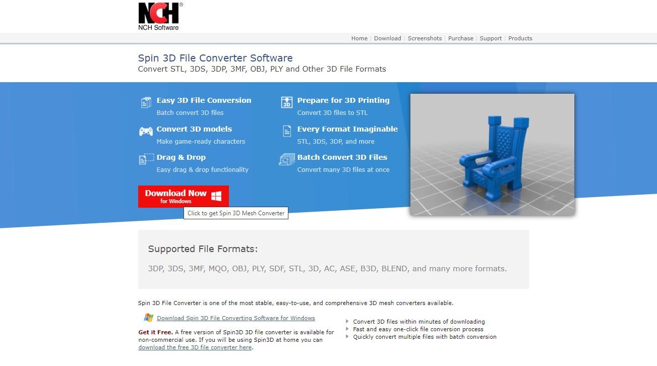 Spin 3D File Converter Software