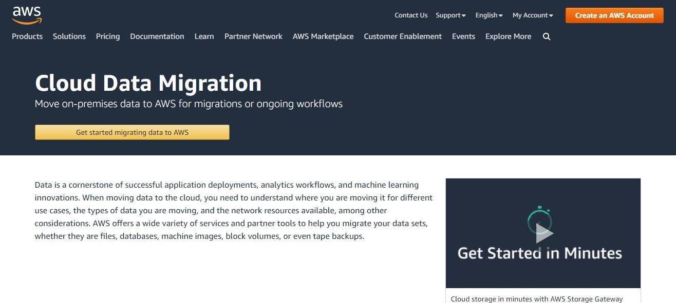 AWS - Cloud Data Migration