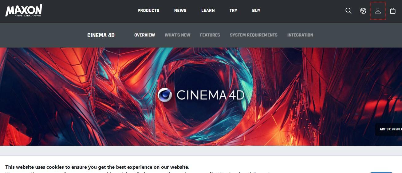 Cinema 4D Motion Graphics Software