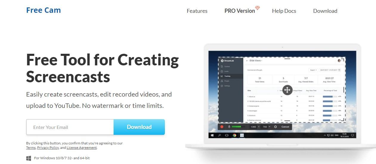 Freescreenrecording Video Editing Software