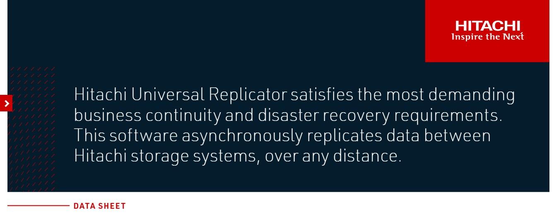 Hitachi - HDS Universal Replicator