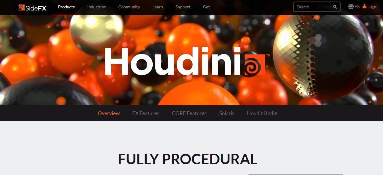 Houdini Motion Graphics Software