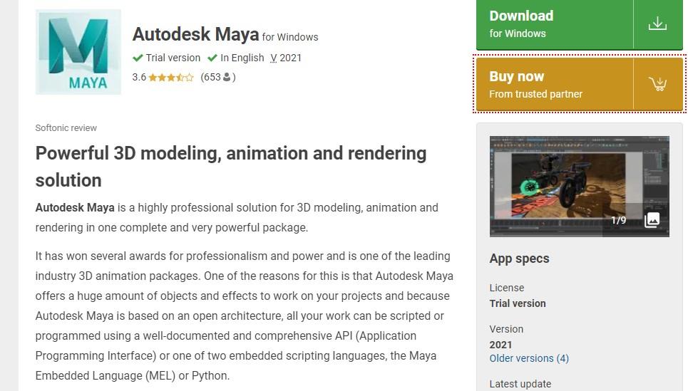 Maya Motion Graphics Software