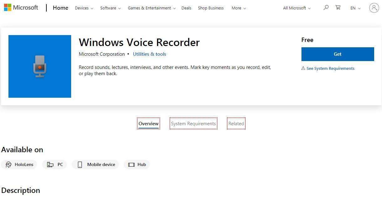 Windows Voice Recorder Voiceover Software
